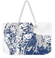 Frederik Andersen Toronto Maple Leafs Pixel Art 3 Weekender Tote Bag