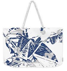 Frederik Andersen Toronto Maple Leafs Pixel Art 4 Weekender Tote Bag