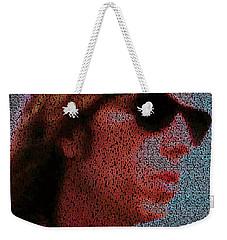 Free Fallin Lyrics Mosaic Weekender Tote Bag