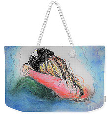 Weekender Tote Bag featuring the mixed media Free Hugs by Denise Fulmer