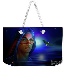 Weekender Tote Bag featuring the digital art Free  Spirit 3 by Shadowlea Is