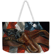 Weekender Tote Bag featuring the painting Freedom by Billie Colson