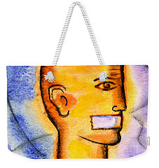 Weekender Tote Bag featuring the painting Freedom Of Press  by Leon Zernitsky