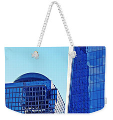 Weekender Tote Bag featuring the photograph Freedom Tower And 2 World Financial Center by Sarah Loft
