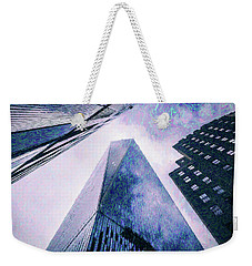 Freedom Tower Crayon Sketch Weekender Tote Bag by Wade Brooks