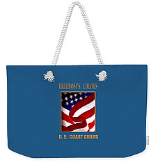 Freedom's Colors Uscg Weekender Tote Bag
