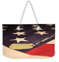 Weekender Tote Bag featuring the photograph Freedom's Price by Laddie Halupa