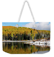 Freeman Lake In Northwest Colorado In The Fall Weekender Tote Bag