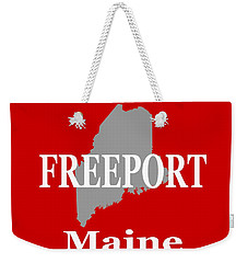 Weekender Tote Bag featuring the photograph Freeport Maine State City And Town Pride  by Keith Webber Jr