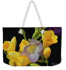 Freesias Softened 9 Weekender Tote Bag
