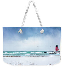 Freezing Storm Weekender Tote Bag