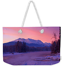 Freezing Under The Glow Weekender Tote Bag by Stanza Widen
