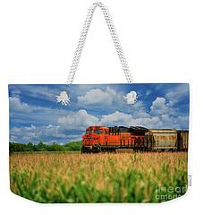 Freight Train Weekender Tote Bag by Kelly Wade