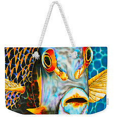 French Angelfish Face Weekender Tote Bag