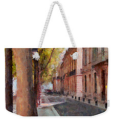 Weekender Tote Bag featuring the photograph French Boulevard by Scott Carruthers