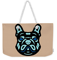 French Bulldog Francis - Dog Design - Hazelnut, Island Paradise, Lapis Blue Weekender Tote Bag