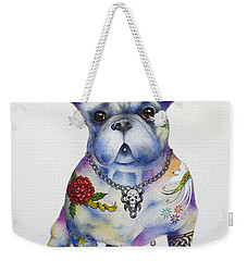 French Bulldog Ozzie Weekender Tote Bag by Patricia Lintner