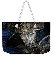 Weekender Tote Bag featuring the photograph French Creek Heron by Randy Hall