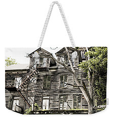 Weekender Tote Bag featuring the photograph French Doors And Fire Escapes by Carol Lynn Coronios