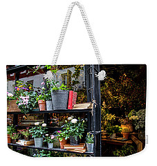 French Flower Shop Weekender Tote Bag by Jean Haynes