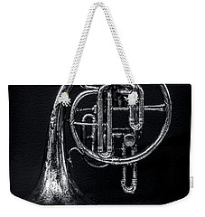 French Horn Beyond A Glass Table Weekender Tote Bag