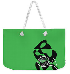 French Horn In Green Weekender Tote Bag by David Bridburg