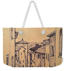 French Little Town Drawing Weekender Tote Bag