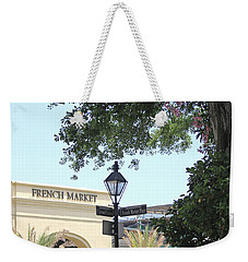 Weekender Tote Bag featuring the photograph French Market by Todd Blanchard