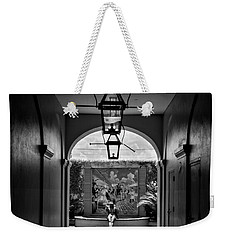 French Market's Michelle In Black And White Weekender Tote Bag
