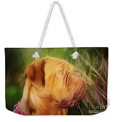 French Mastiff  Weekender Tote Bag by Eleanor Abramson