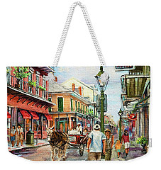 French Quarter Antiques Weekender Tote Bag