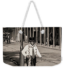 Weekender Tote Bag featuring the photograph French Quarter As It Once Was by KG Thienemann
