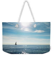 Weekender Tote Bag featuring the photograph French Riviera Waters by Katie Wing Vigil