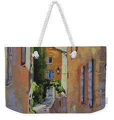 Weekender Tote Bag featuring the painting French Street by Chris Hobel