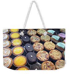 Weekender Tote Bag featuring the photograph French Tarts by Therese Alcorn