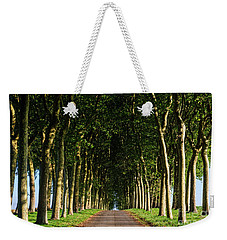 French Tree Lined Country Lane Weekender Tote Bag