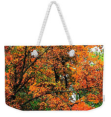 Fresco Autumn Diptych Left Weekender Tote Bag