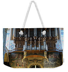 Fresco Of The Last Judgement And Organ In Albi Cathedral Weekender Tote Bag by RicardMN Photography