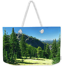 Weekender Tote Bag featuring the photograph Fresh Air In The Mountains Photo Art by Sharon Talson
