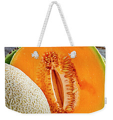Fresh Cantaloupe Melon Weekender Tote Bag by Teri Virbickis