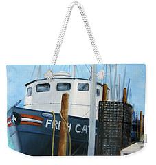 Fresh Catch Fishing Boat Weekender Tote Bag