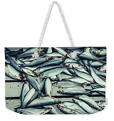Weekender Tote Bag featuring the photograph Fresh Caught Herring Fish by Edward Fielding