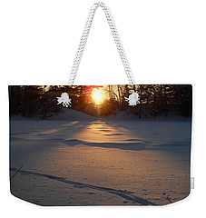 Fresh Deer Tracks At Sunrise Weekender Tote Bag