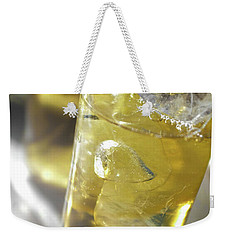 Weekender Tote Bag featuring the photograph Fresh Drink With Lemon by Carlos Caetano
