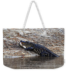 Weekender Tote Bag featuring the photograph Fresh Fish by Al Powell Photography USA