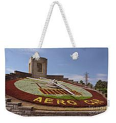 Fresh Flower Clock Weekender Tote Bag