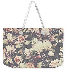 Fresh Flower Pattern Background Weekender Tote Bag
