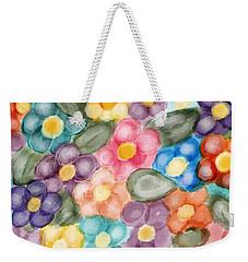 Weekender Tote Bag featuring the digital art Fresh Flowers by Paula Brown