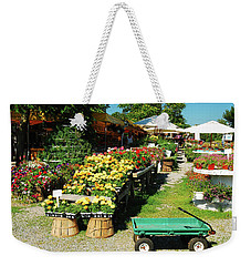 Weekender Tote Bag featuring the photograph Fresh From The Farm by James Kirkikis