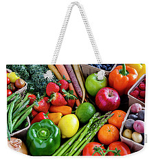 Fresh From The Farm Weekender Tote Bag by Teri Virbickis